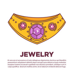 luxury jewelry kind wearing on neck flat vector image