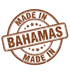 Made in bahamas brown grunge round stamp vector