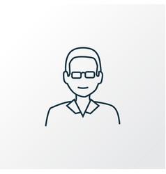 male teacher icon line symbol premium quality vector image