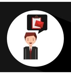 Man cartoon message list email vector