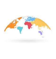 Multicolored globe map vector