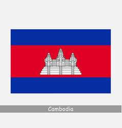 National flag cambodia cambodian country flag vector
