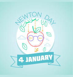 Newton day january 4 vector