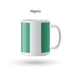 Nigeria flag souvenir mug on white background vector