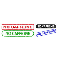 no caffeine rectangle seals using corroded texture vector image