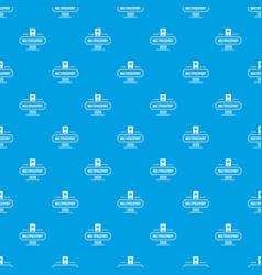 passport pattern seamless blue vector image