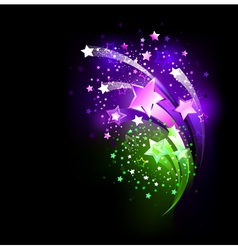 Purple fireworks vector