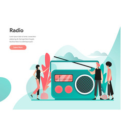 radio concept modern flat design concept web vector image