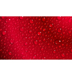 Red background of water drops vector