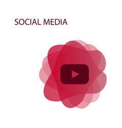 red button video player social media youtube eps vector image