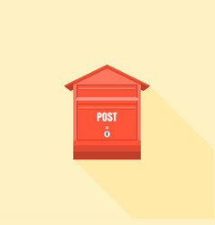 red mail box post vector image