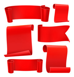 red tapes template set vector image