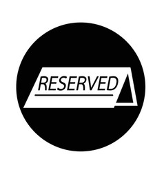 Reserved icon vector