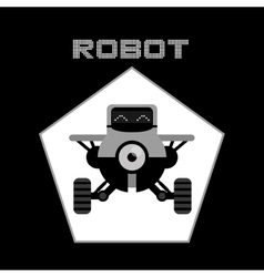 Robot icon design vector image