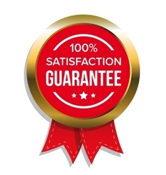 satisfaction guaranteed badge vector image