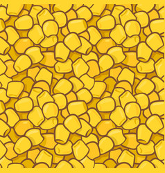 Seamless colorful pattern with maize corn kernels vector