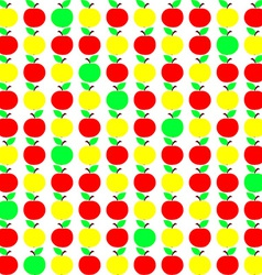 Seamless Texture with Apple in Green Yellow and vector image