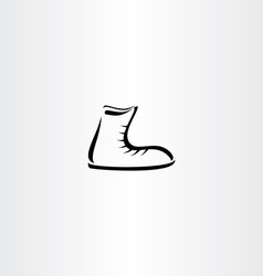 shoes icon stylized element vector image