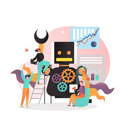 smart modern gadgets concept for web banner vector image