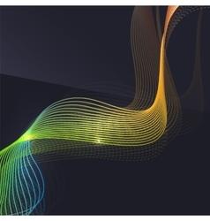 Smoke wave on dark background vector image