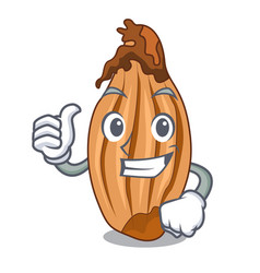 thumbs up character fresh shallots at farmer vector image