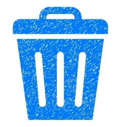 Trash Can Grainy Texture Icon vector