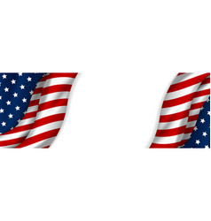 Usa banner design of american flag vector