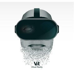 vr user vector image