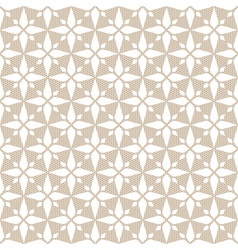 White seamless abstract rhombus lace pattern vector image