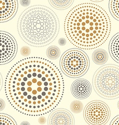 Yellow watercolor seamless texture with polka dots vector