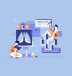 Young student man study medicine science vector