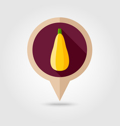 Zucchini flat pin map icon vegetable vector
