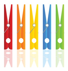 clothespin in color vector image