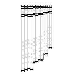 Outline panpipe vector image vector image