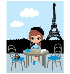 parisian cafe vector image vector image