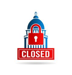 usa government shutdown vector image