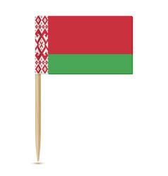 belarus flag toothpick 10eps vector image
