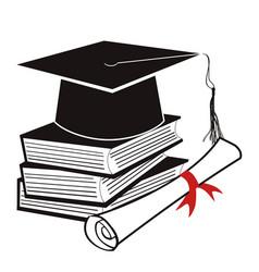 black graduation background vector image