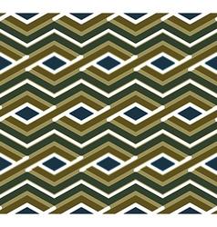 Bright geometric zigzag seamless pattern symmetric vector image vector image