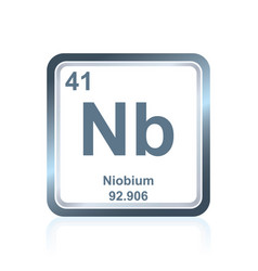 chemical element niobium from the periodic table vector image