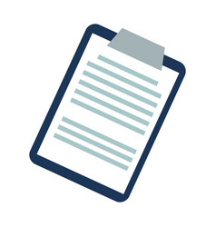 clipboard report medical support document image vector image