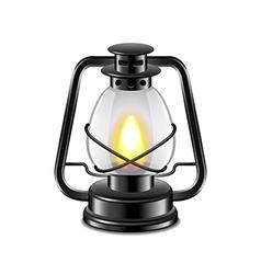 Kerosene lamp isolated on white vector