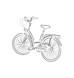 Outline of bicycle vector image