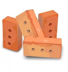 red bricks vector image vector image