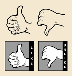 Hand signs 1 vector image