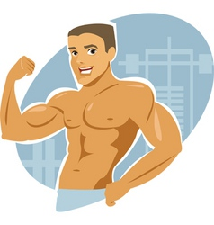 muscle man vector image