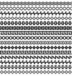 old greek border tribal vintage ethnic seamless vector image