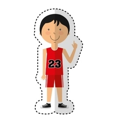 athlete avatar character icon vector image
