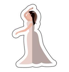 Bride wedding dance pose vector