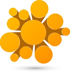 Bubble orange infographics design vector image vector image